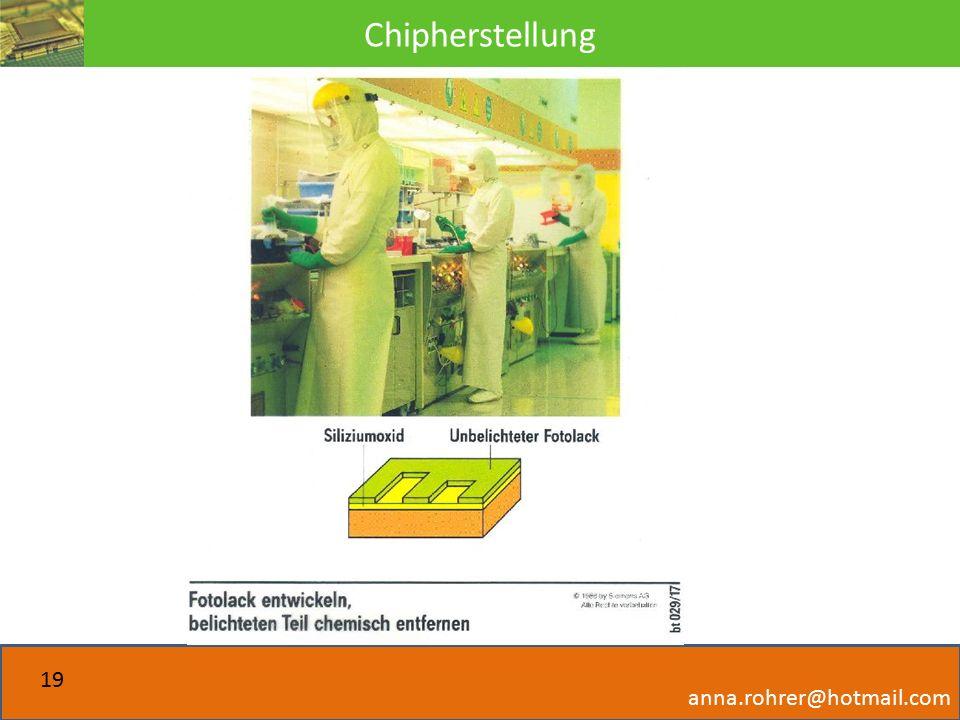 Chipherstellung anna.rohrer@hotmail.com 19