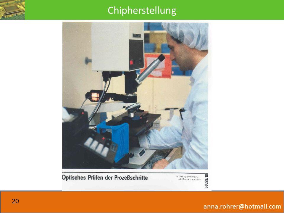 Chipherstellung anna.rohrer@hotmail.com 20