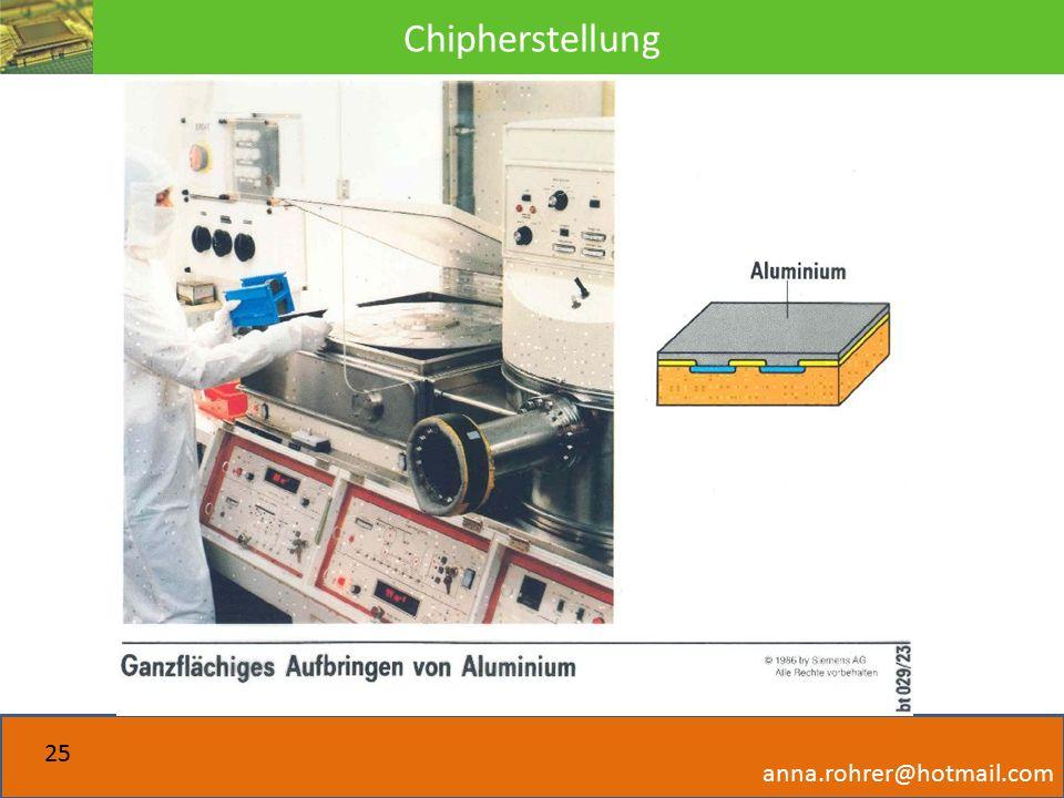 Chipherstellung anna.rohrer@hotmail.com 25