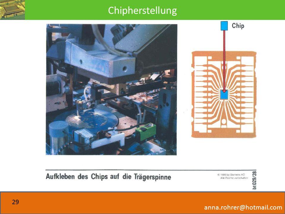 Chipherstellung anna.rohrer@hotmail.com 29