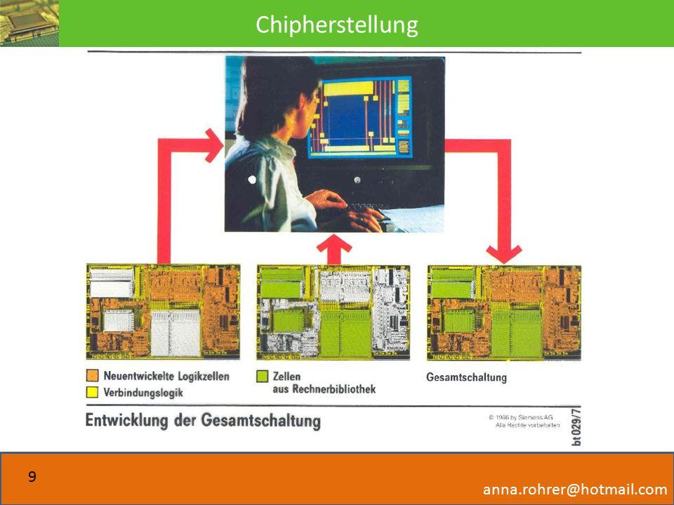 Chipherstellung anna.rohrer@hotmail.com 9