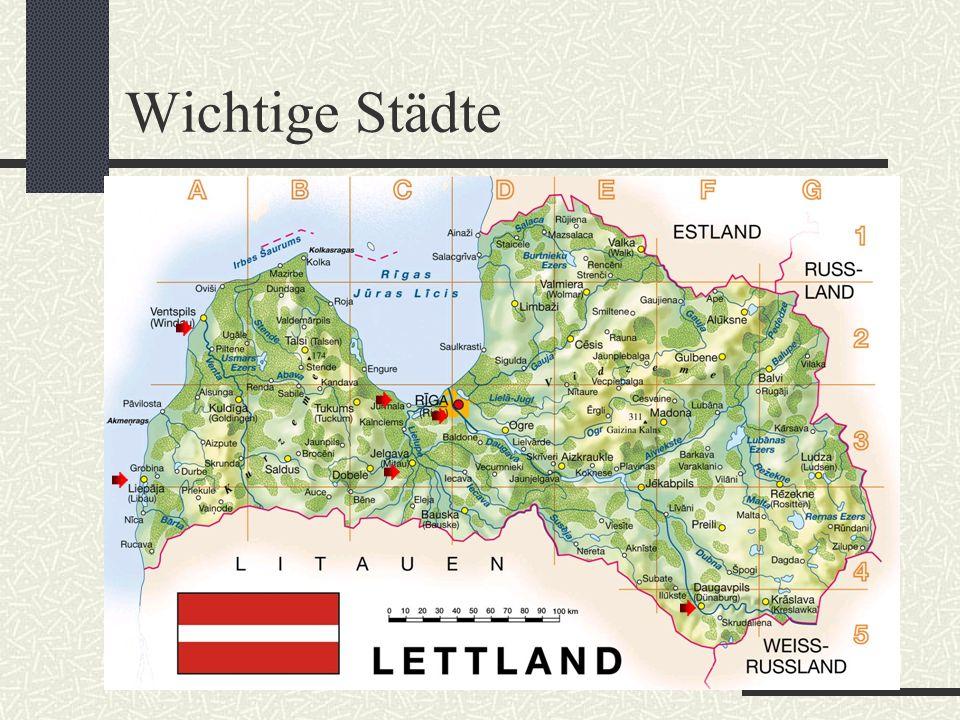 Landschaftsformen Größter See: Lubāns Größter Nationalpark: Gauja Längster Fluss: Gauja (dt: Livländische Aa); Länge: 452 km Höchster Berg: Gazinkals (312m)
