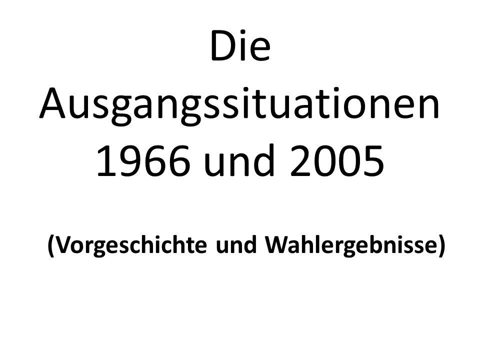 Die Ausgangssituationen 1966 und 2005 (Vorgeschichte und Wahlergebnisse)