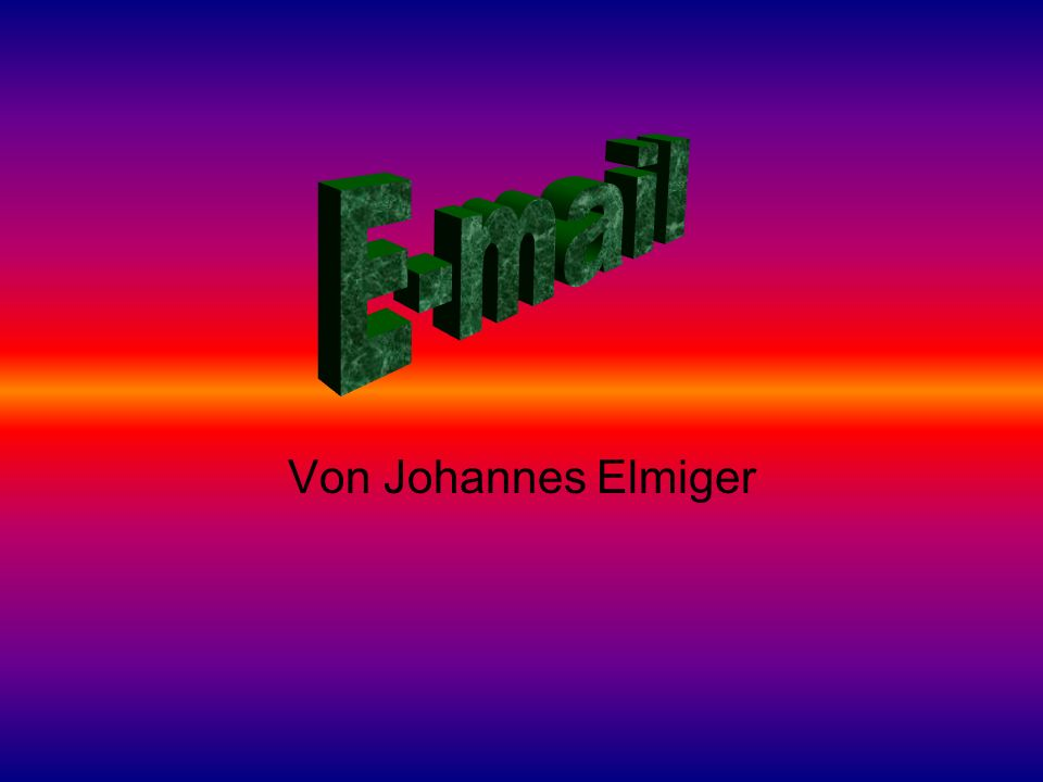 Von Johannes Elmiger