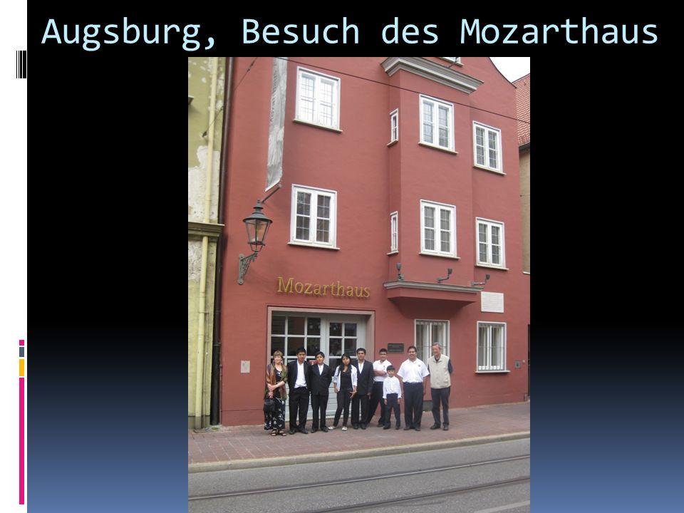 Augsburg, Besuch des Mozarthaus