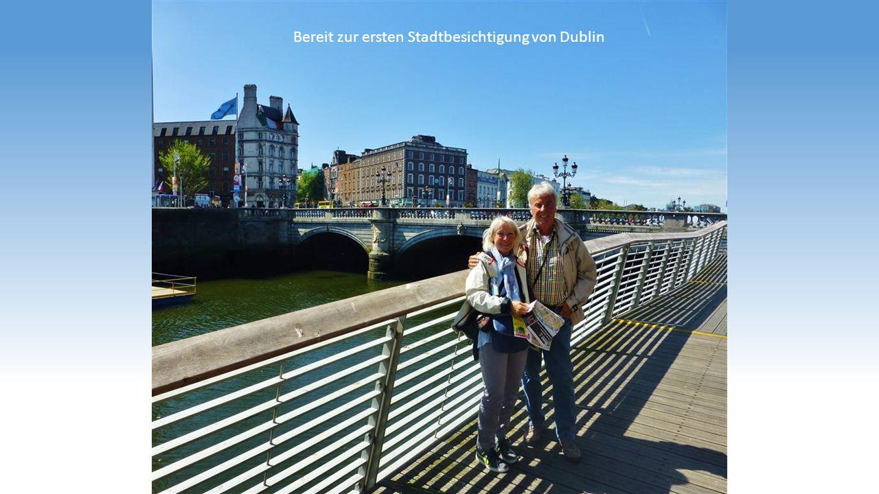 Bereit zur ersten Stadtbesichtigung von Dublin