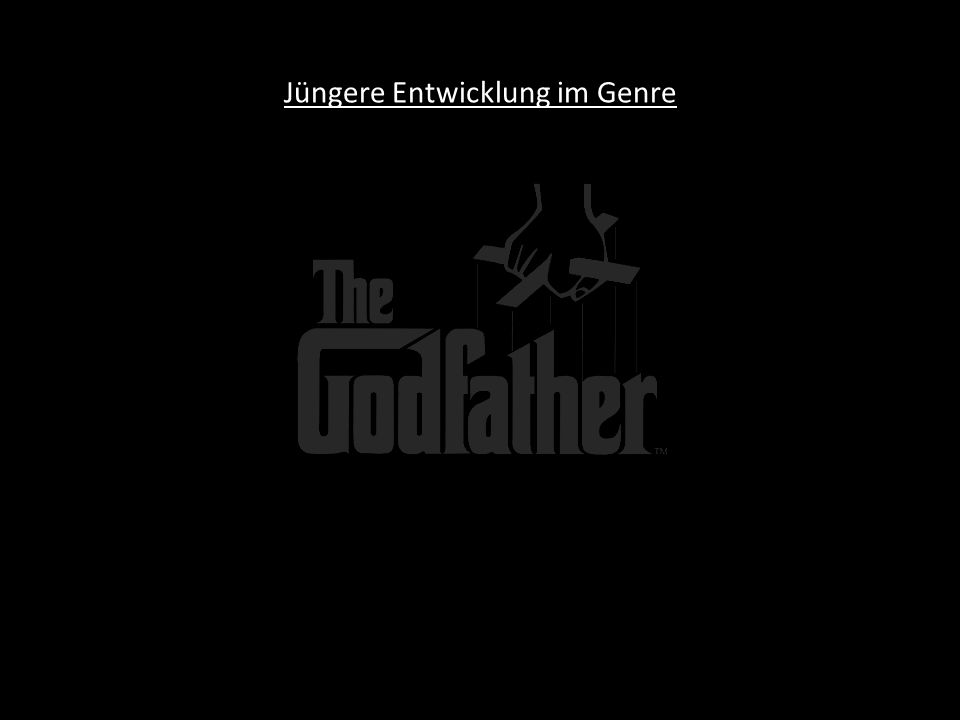 Mögliche Themen des Gangsterfilmes - Rise and fall narrative - Gangster as a tragic figure - Family versus gang - Cain and Abel: - Gangster as cop - Death of the big shot - Couple on the run - The big caper - Syndicate film