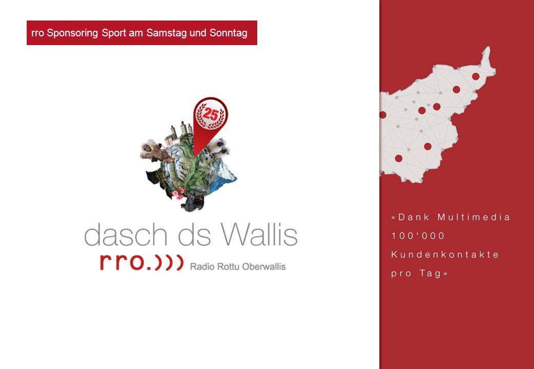 rro Sponsoring Verke nachhr rro Sponsoring Sport am Samstag und Sonntag