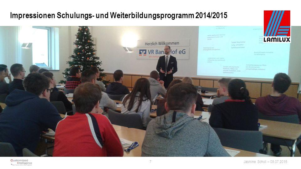Impressionen Schulungs- und Weiterbildungsprogramm 2014/2015 7Jasmine Scholl – 08.07.2015