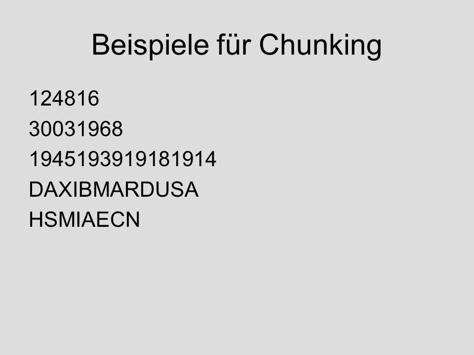 Beispiele für Chunking 124816 30031968 1945193919181914 DAXIBMARDUSA HSMIAECN