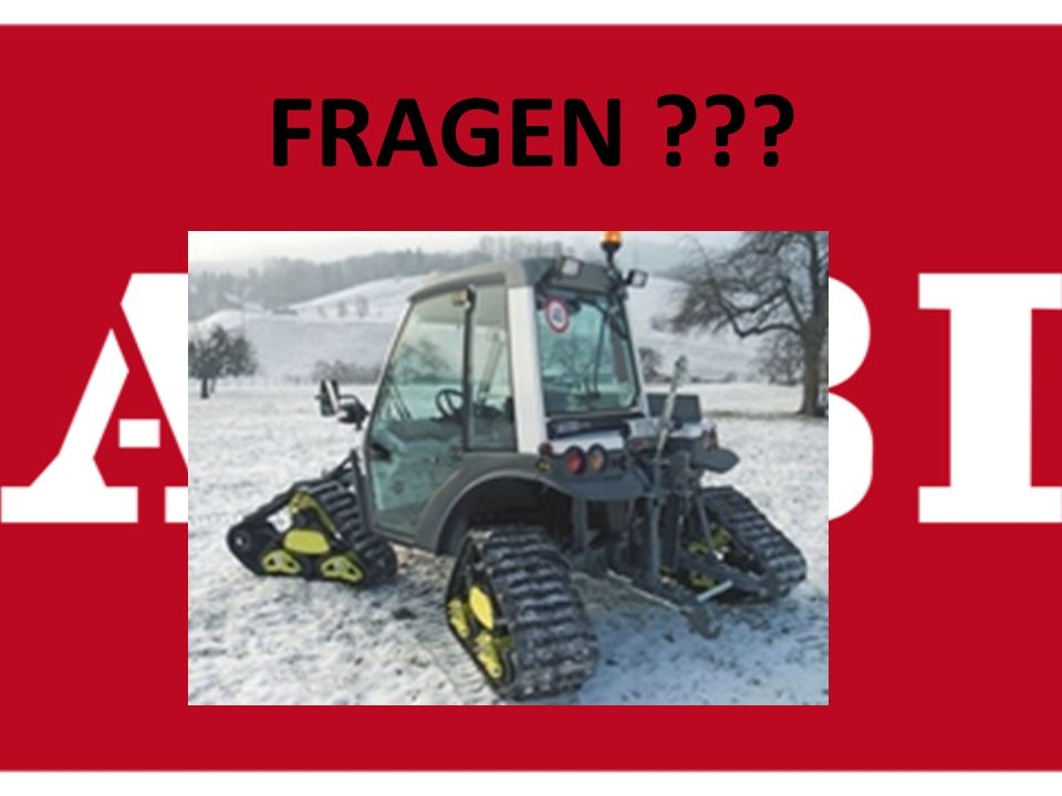 Anderes: Der AEBI TT 270 ist nicht nur für den Sommer sondern auch für den Winter. Auf Wunsch kann man ihn mit Raupen, Schneefräse und einem Schneepfl