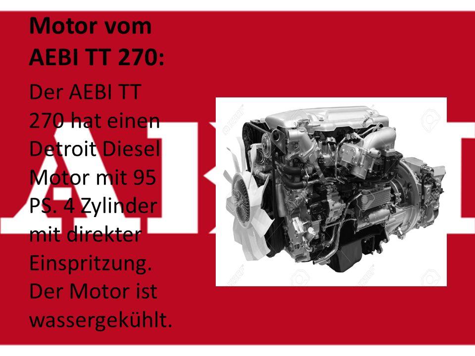 Der Tank vom AEBI TT270: Im Tank vom AEBI TT 270 haben 90 Liter Diesel Platz.