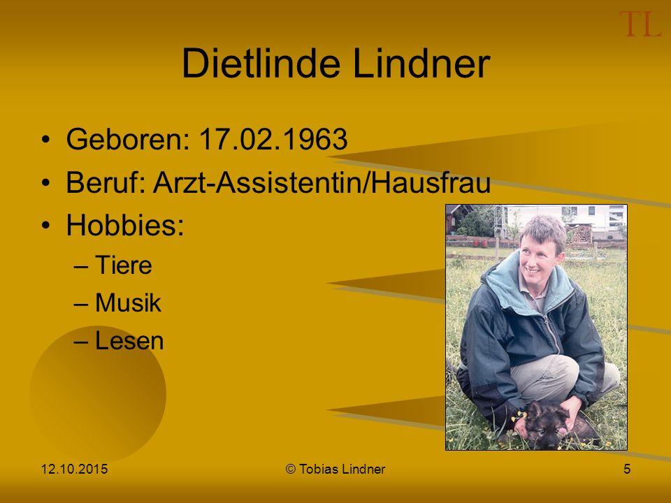 Vanessa Lindner Geboren: 18.10.1982 Beruf: Volksschullehrerin Hobbies: –Klettern –Lesen –Reisen 12.10.2015© Tobias Lindner6