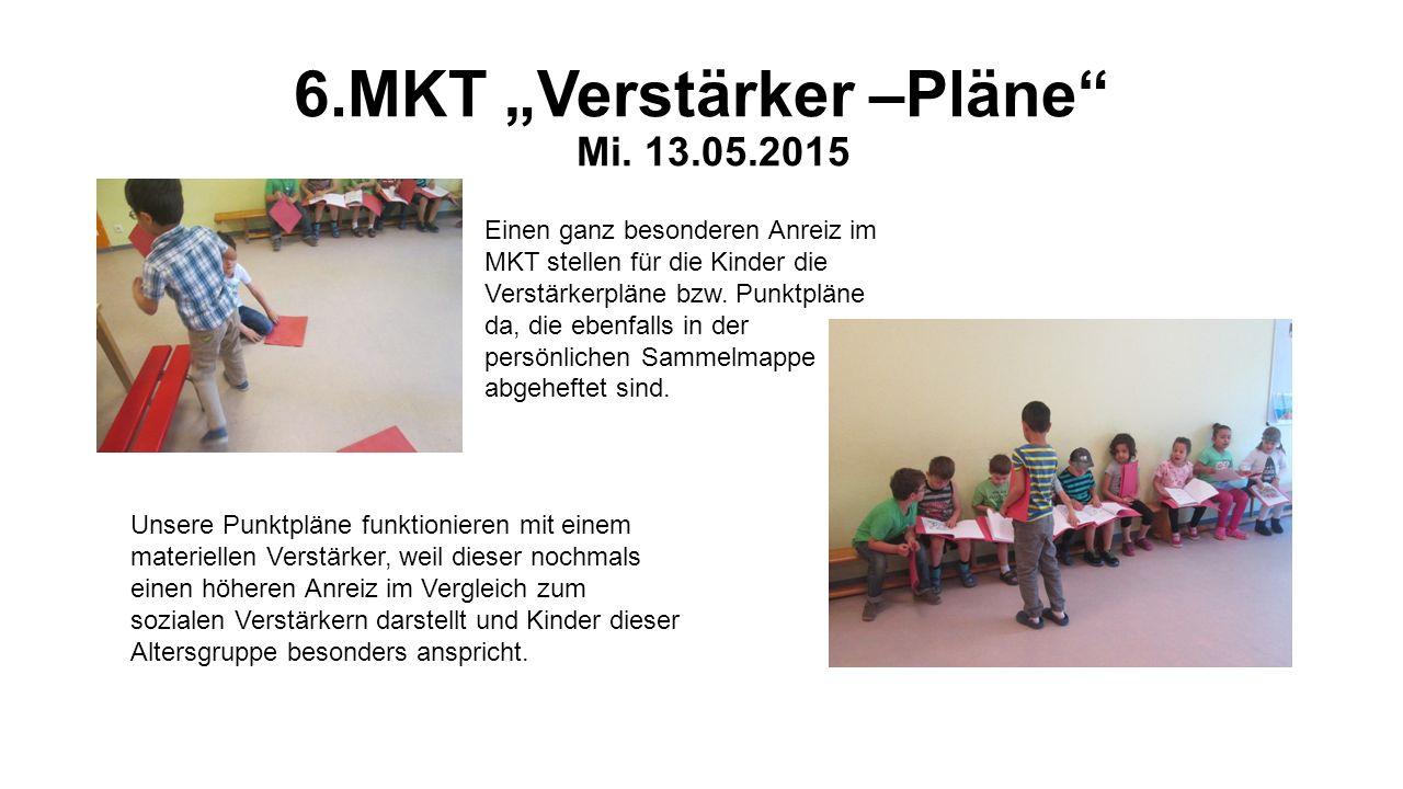 """6.MKT """"Verstärker –Pläne"""" Mi. 13.05.2015 Einen ganz besonderen Anreiz im MKT stellen für die Kinder die Verstärkerpläne bzw. Punktpläne da, die ebenfa"""