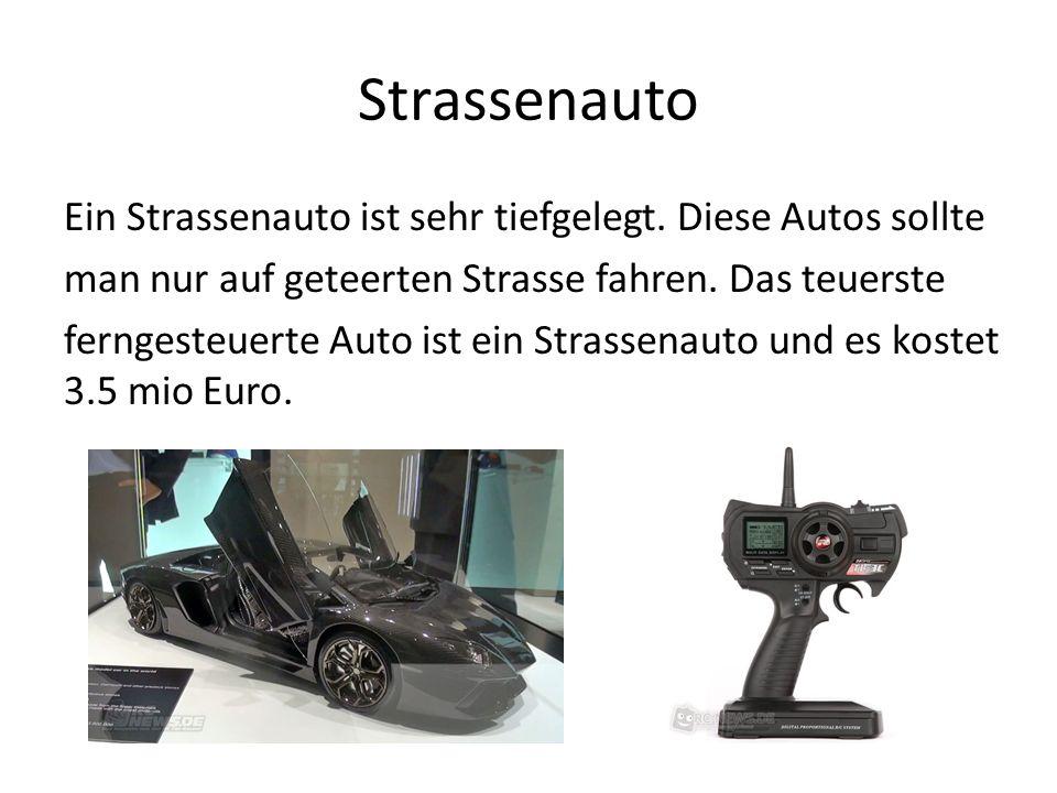 Strassenauto Ein Strassenauto ist sehr tiefgelegt.