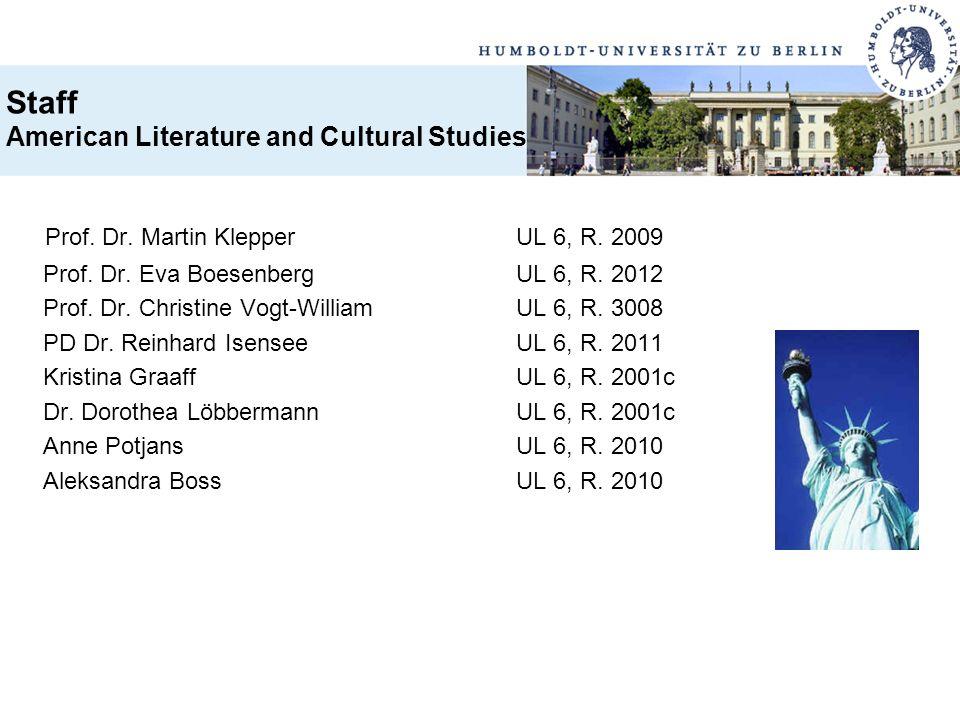 Prof. Dr. Martin Klepper UL 6, R. 2009 Prof. Dr. Eva BoesenbergUL 6, R. 2012 Prof. Dr. Christine Vogt-WilliamUL 6, R. 3008 PD Dr. Reinhard IsenseeUL 6