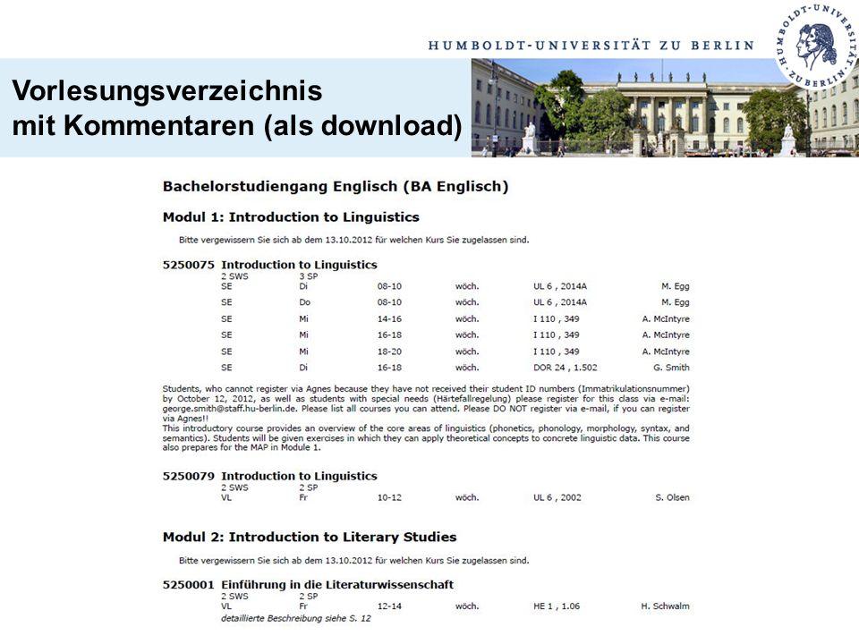 Vorlesungsverzeichnis mit Kommentaren (als download)