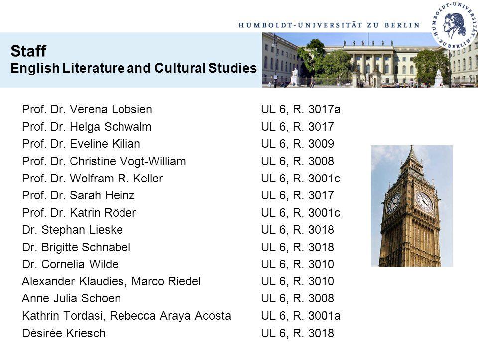 Prof. Dr. Verena LobsienUL 6, R. 3017a Prof. Dr. Helga SchwalmUL 6, R. 3017 Prof. Dr. Eveline KilianUL 6, R. 3009 Prof. Dr. Christine Vogt-WilliamUL 6