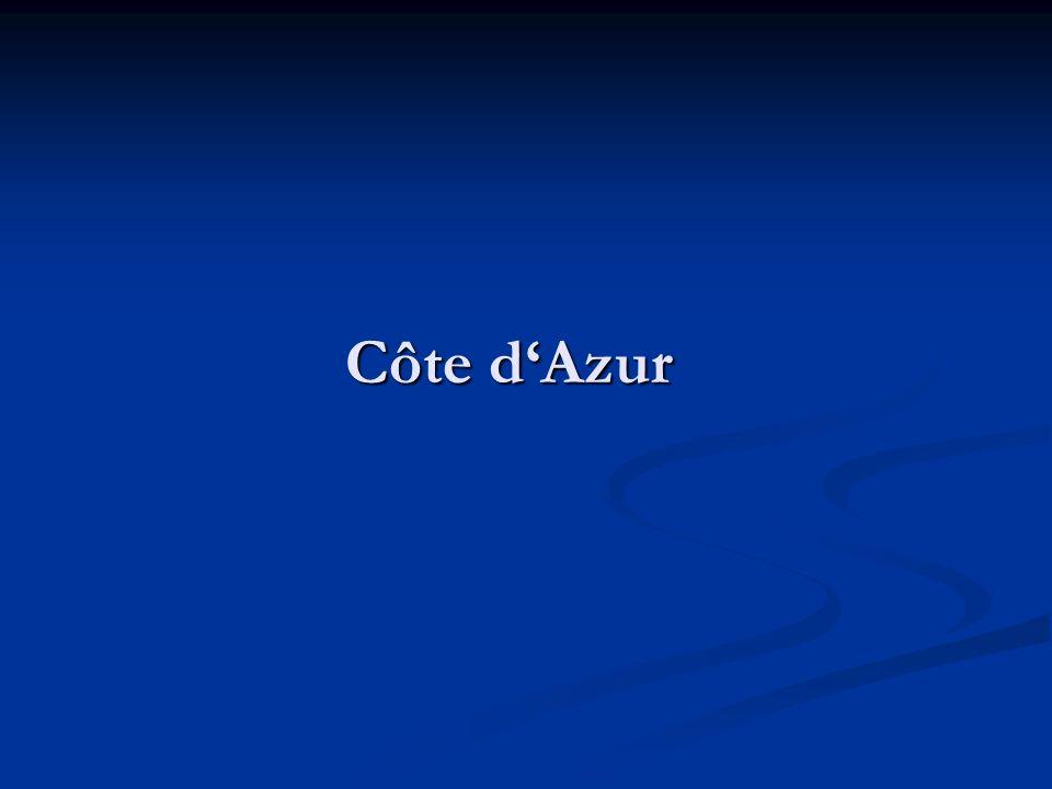 Definition Als Côte d'Azur [kotdazyr] (dt.