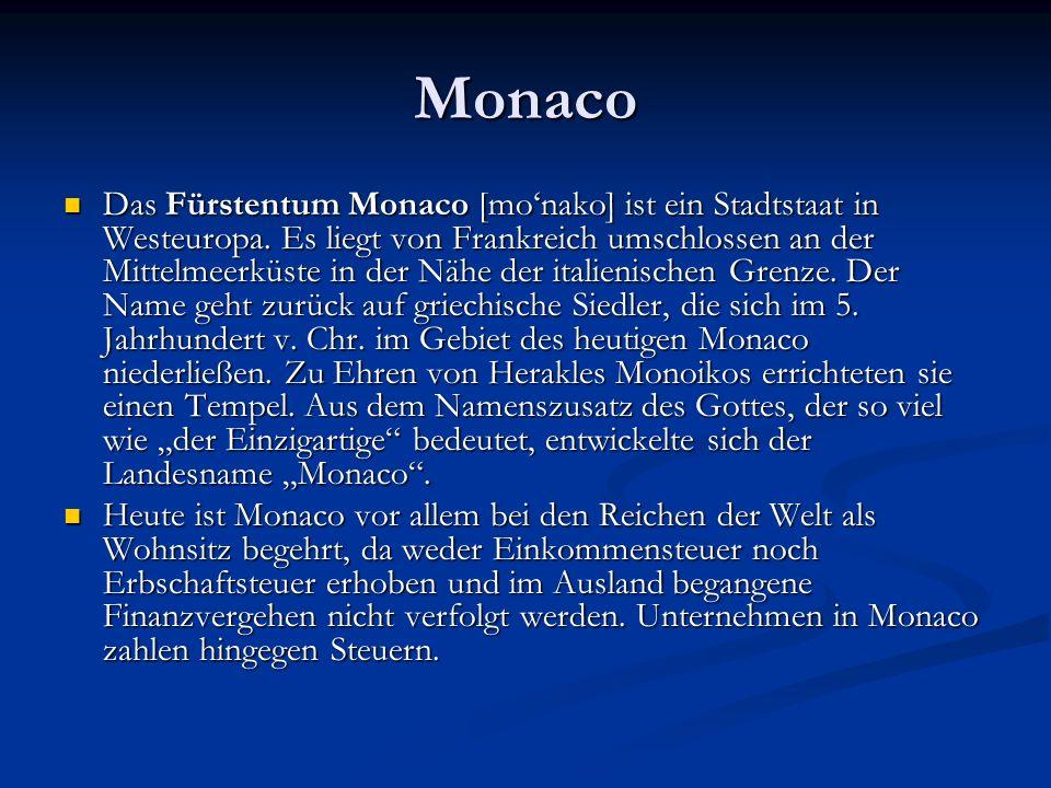 Monaco ist der am dichtesten besiedelte unabhängige Staat der Welt (ca.