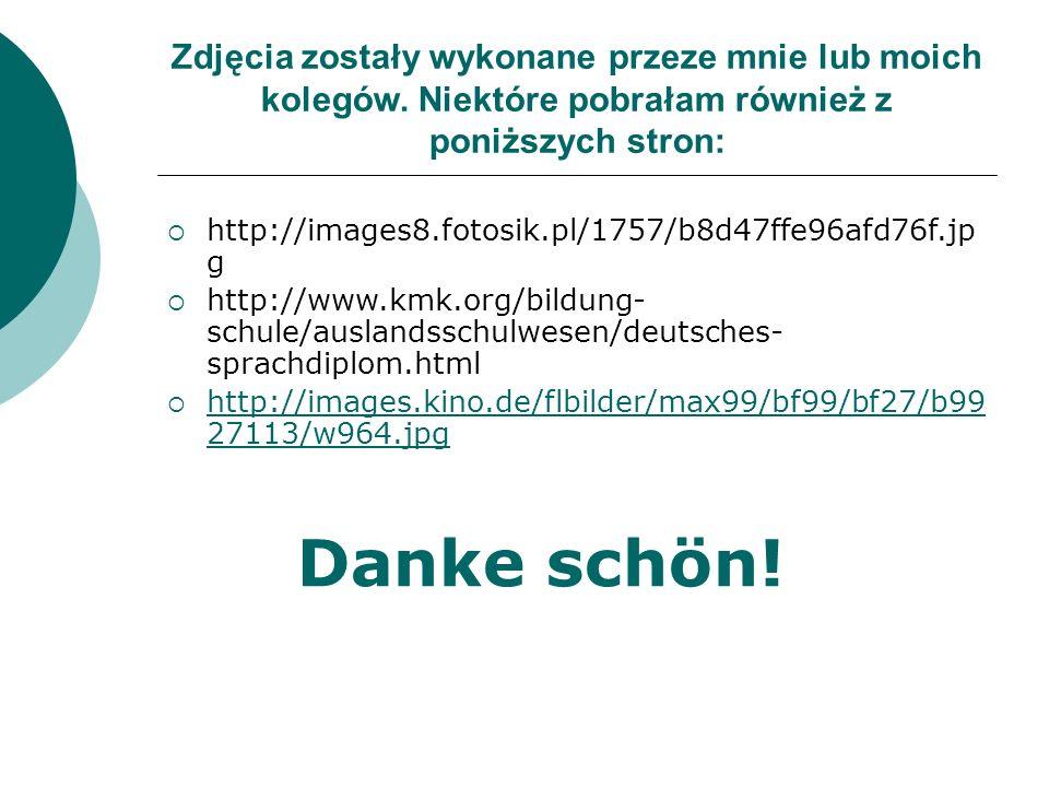 Zdjęcia zostały wykonane przeze mnie lub moich kolegów. Niektóre pobrałam również z poniższych stron:  http://images8.fotosik.pl/1757/b8d47ffe96afd76
