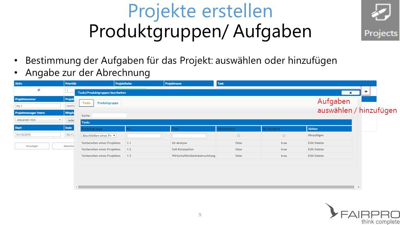 Projektzusammenfassung übersichtlich erkennbar Möglichkeit neue Dateien zu erstellen, hochzuladen, zu synchronisieren Weitere Features: Notizbuch, Aufgaben, Kalender, Webpostfach-App Projekte erstellen Projektraum: Übersicht 10