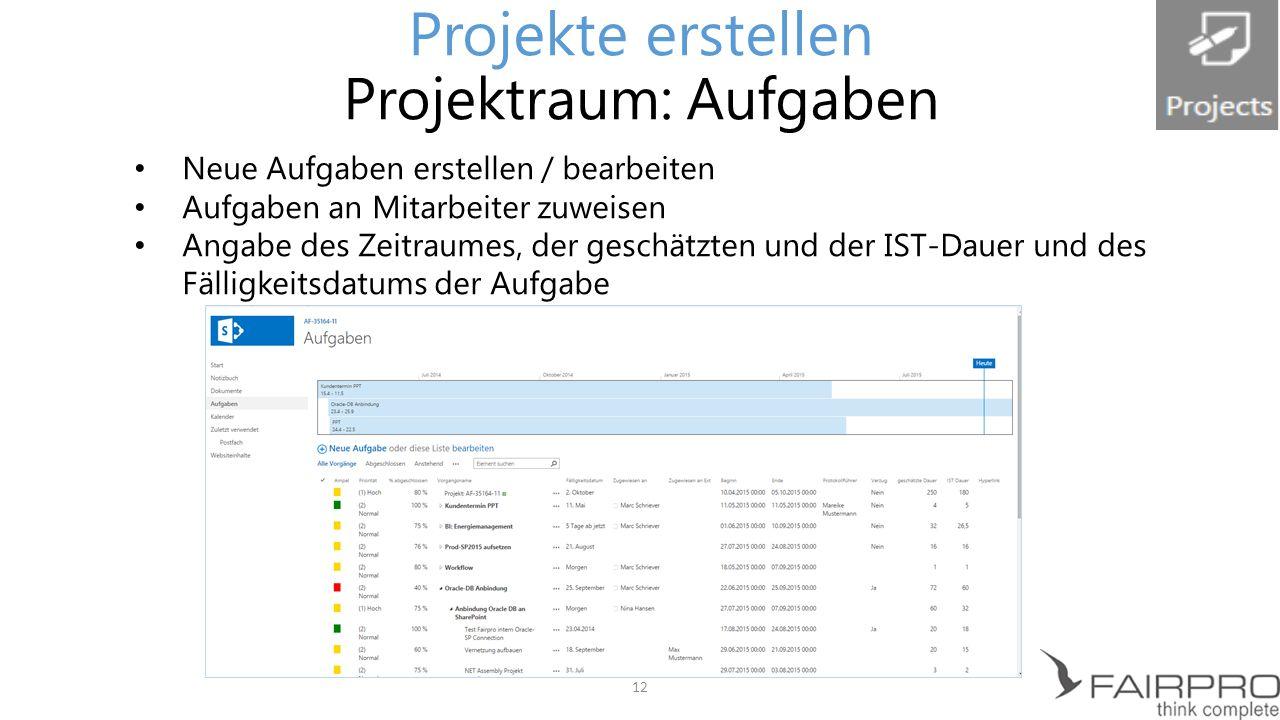 Übersicht aller Projekte- Immer im Blick Alle Datenfelder ausgefüllt: Projekt erscheint in der Projektauswahl Überblick der Arbeitszeiten für alle Projekte Filterung der Projekte nach individuellen Kriterien 13