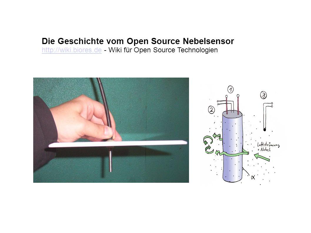 Die Geschichte vom Open Source Nebelsensor http://wiki.biores.dehttp://wiki.biores.de - Wiki für Open Source Technologien