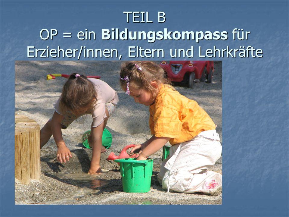 TEIL B OP = ein Bildungskompass für Erzieher/innen, Eltern und Lehrkräfte