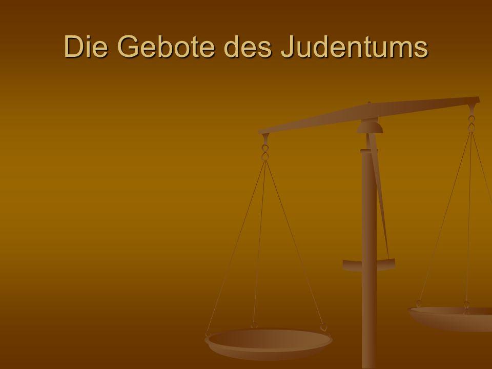 Die Gebote des Judentums