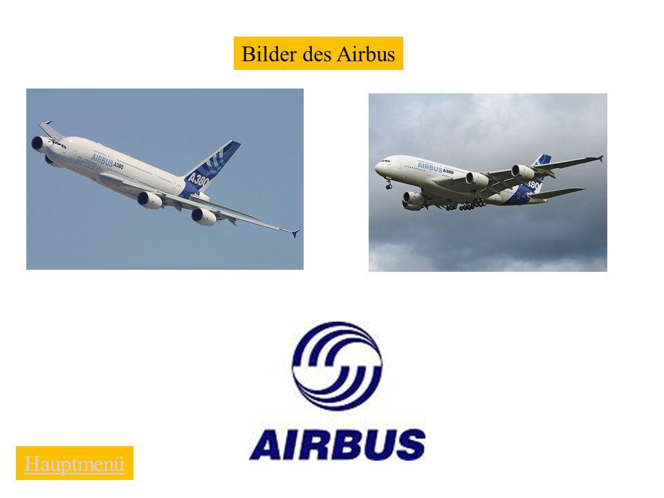 Bilder des Airbus Hauptmenü