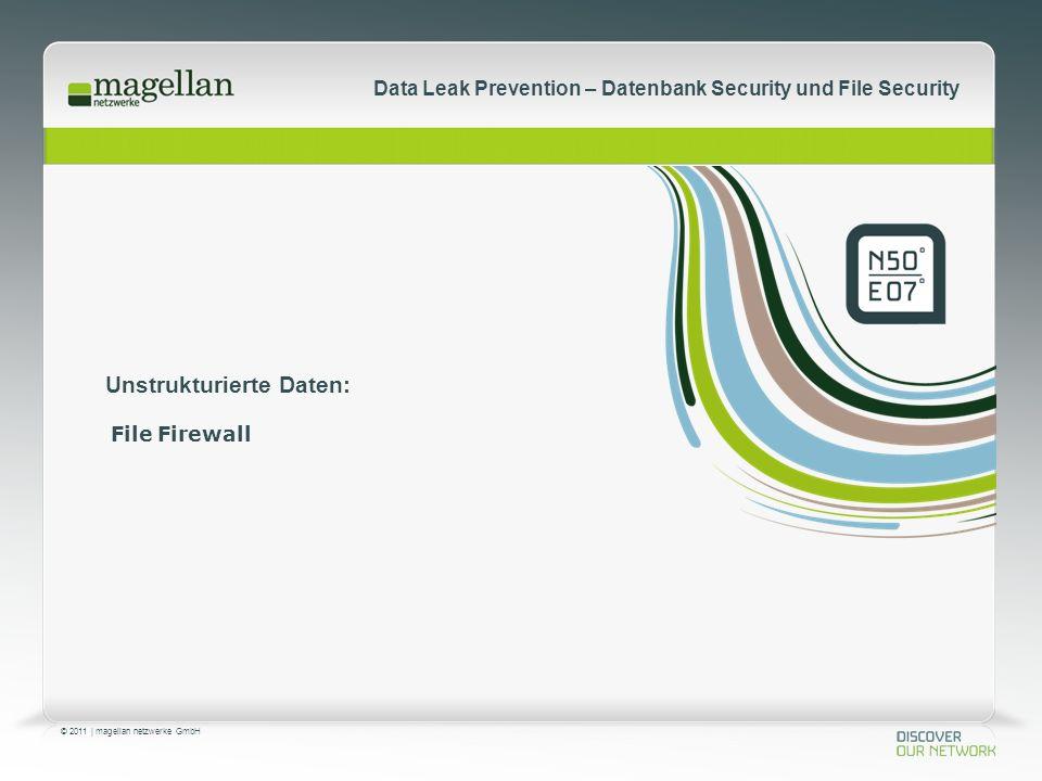 © 2011 | magellan netzwerke GmbH Data Leak Prevention – Datenbank Security und File Security Unstrukturierte Daten: File Firewall