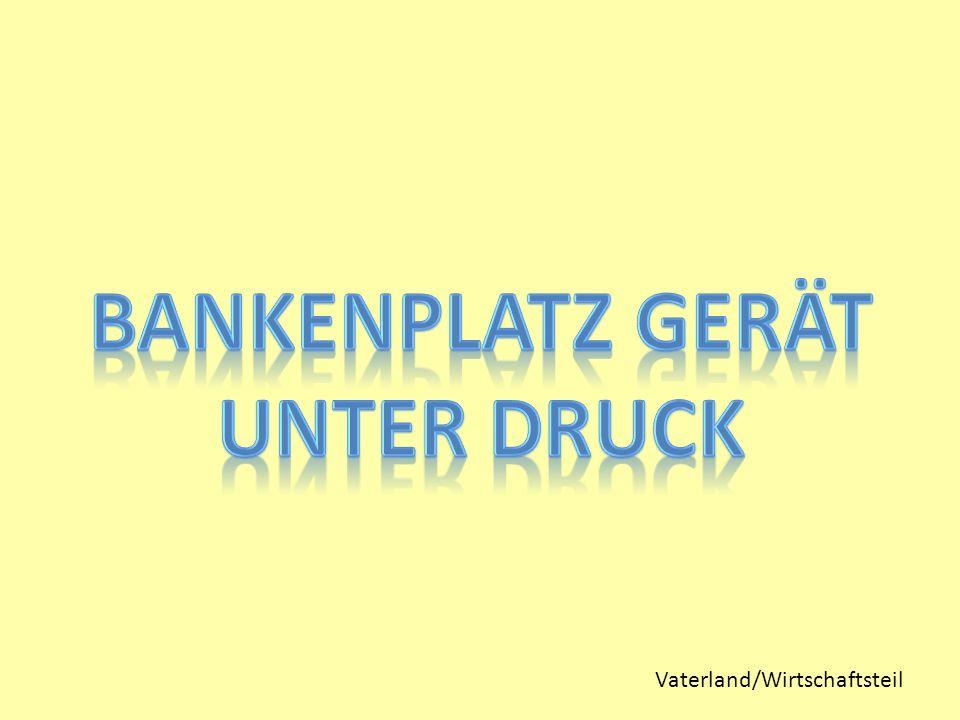 Vaterland/Wirtschaftsteil