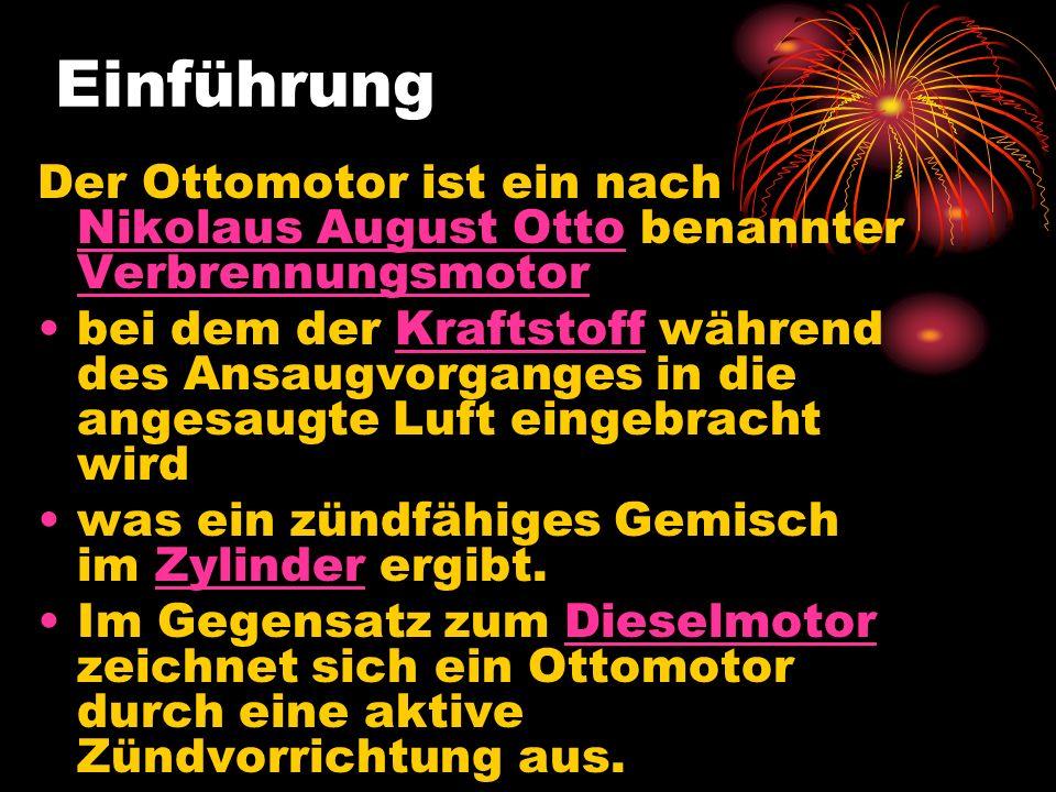 Einführung Der Ottomotor ist ein nach Nikolaus August Otto benannter Verbrennungsmotor Nikolaus August Otto Verbrennungsmotor bei dem der Kraftstoff w