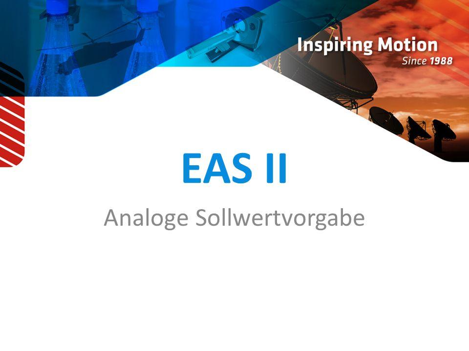 EAS II Analoge Sollwertvorgabe