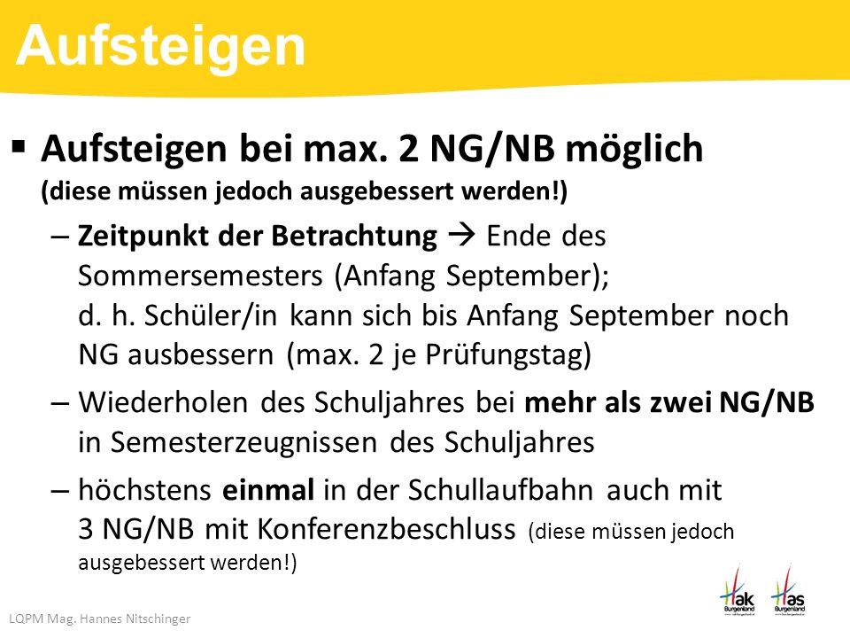 LQPM Mag. Hannes Nitschinger  Aufsteigen bei max.