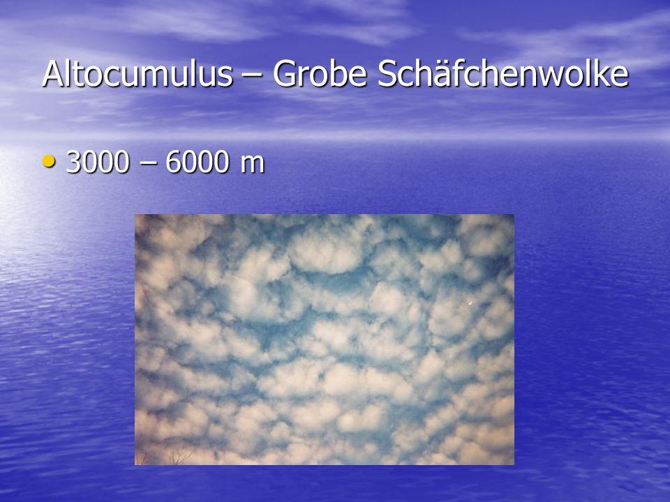 Altocumulus – Grobe Schäfchenwolke 3000 – 6000 m 3000 – 6000 m