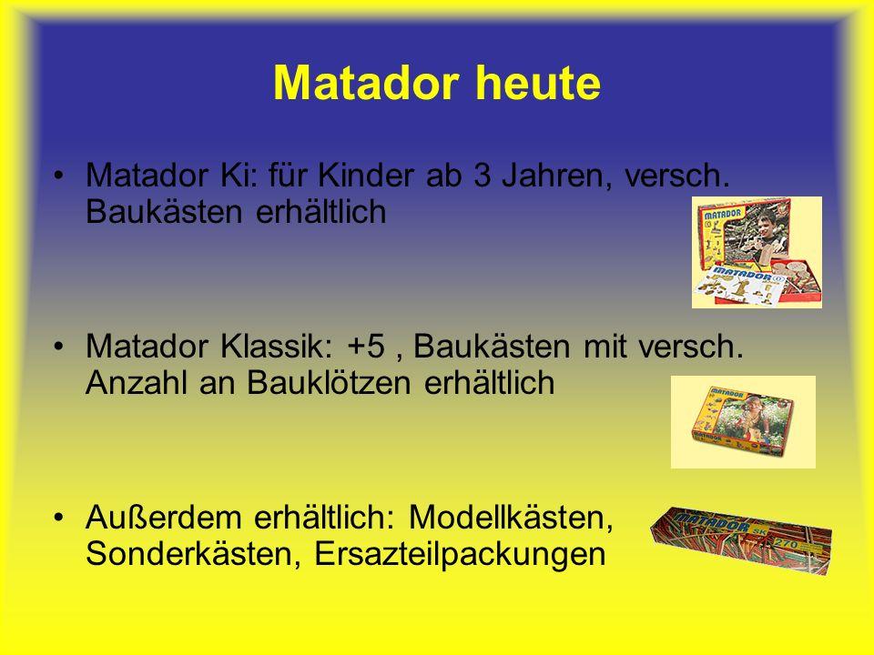 Matador heute Matador Ki: für Kinder ab 3 Jahren, versch.