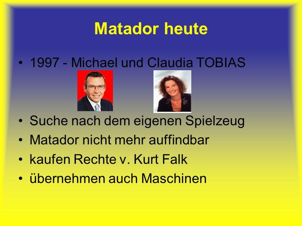 Matador heute 1997 - Michael und Claudia TOBIAS Suche nach dem eigenen Spielzeug Matador nicht mehr auffindbar kaufen Rechte v.