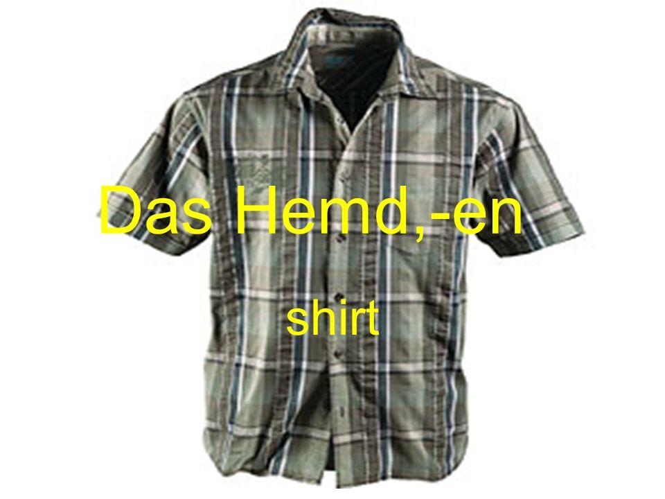 Das Hemd,-en shirt