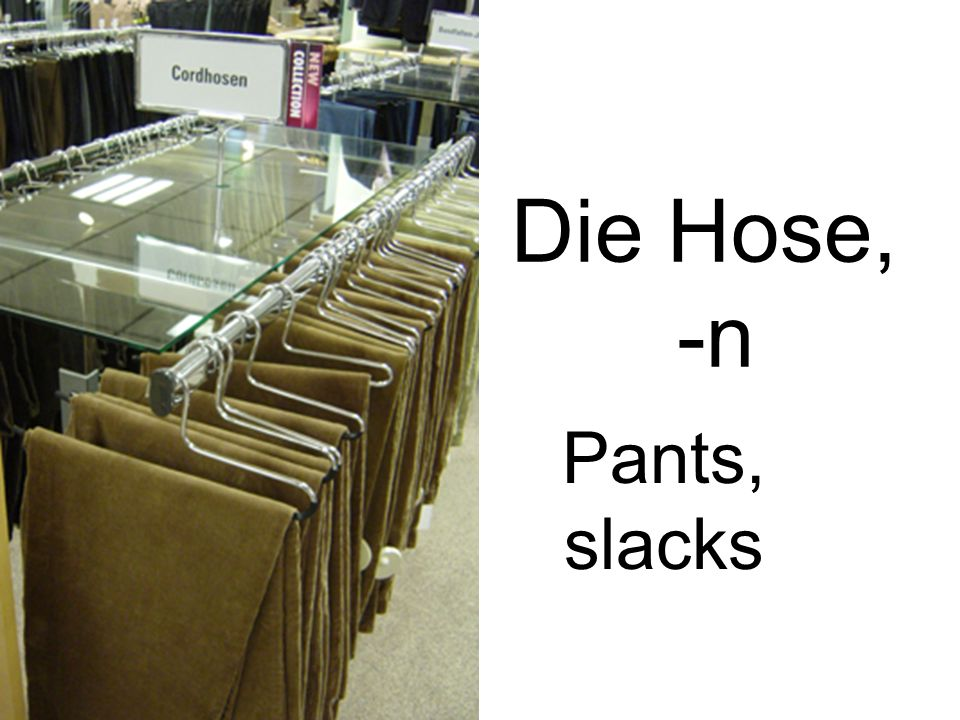 Die Hose, -n Pants, slacks