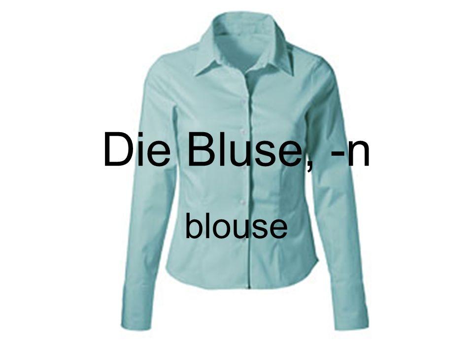 Die Bluse, -n blouse