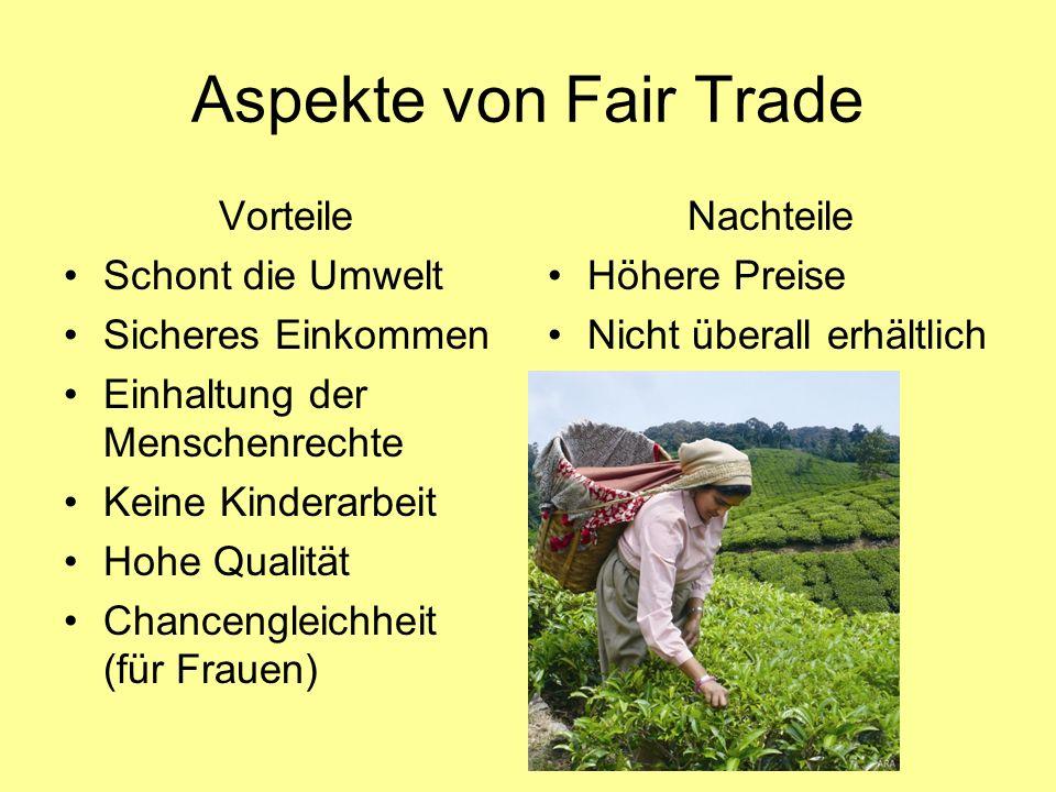 Lösung des Rätsels Fairtrade Fair Trade ist der faire Handel, hierbei wird den Kleinbauern ein stabiles Einkommen gesichert.