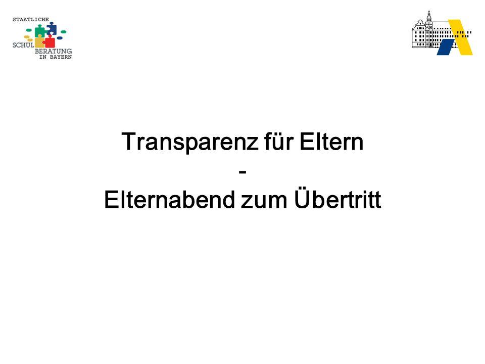 Transparenz für Eltern - Elternabend zum Übertritt