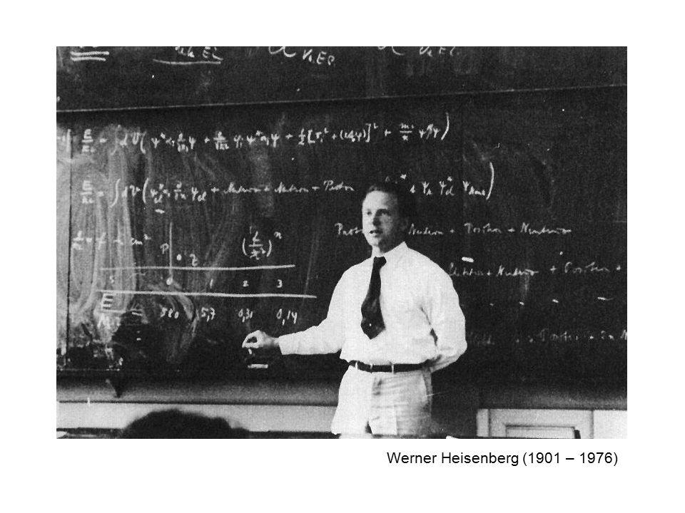 Werner Heisenberg (1901 – 1976)