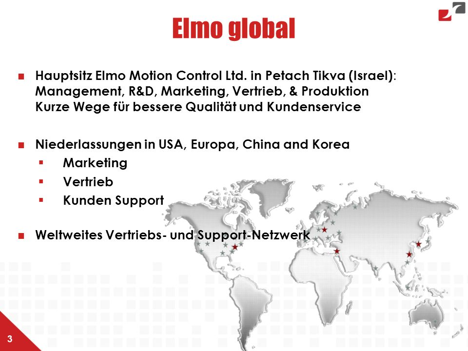 Elmo global Hauptsitz Elmo Motion Control Ltd.
