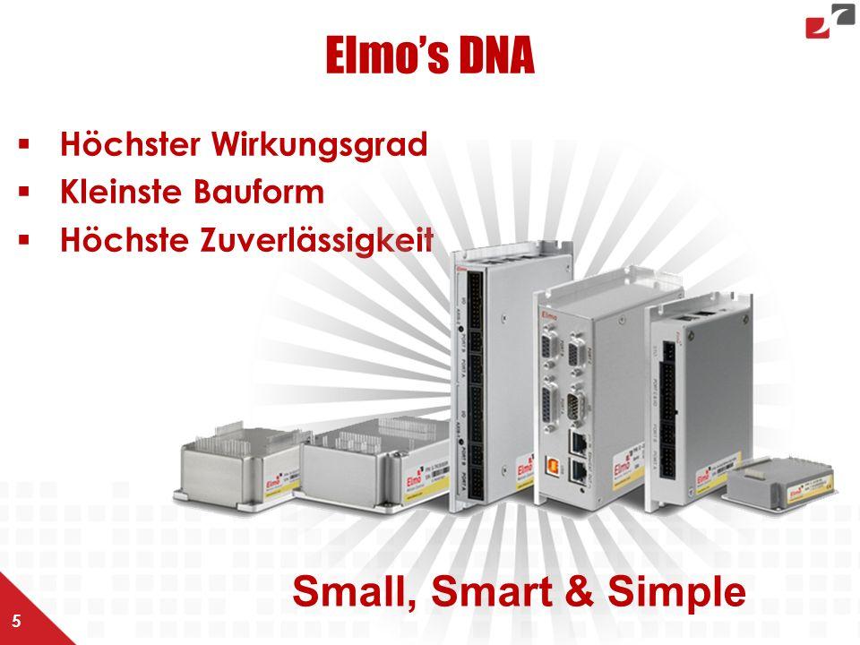 Elmo's DNA  Höchster Wirkungsgrad  Kleinste Bauform  Höchste Zuverlässigkeit 5 Small, Smart & Simple