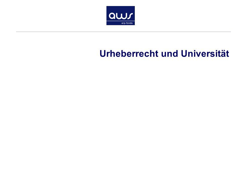 Urheberrecht und Universität