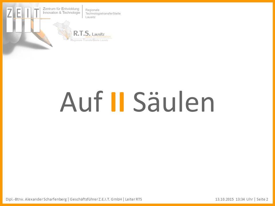 Auf II Säulen Dipl.-Btrw. Alexander Scharfenberg | Geschäftsführer Z.E.I.T.