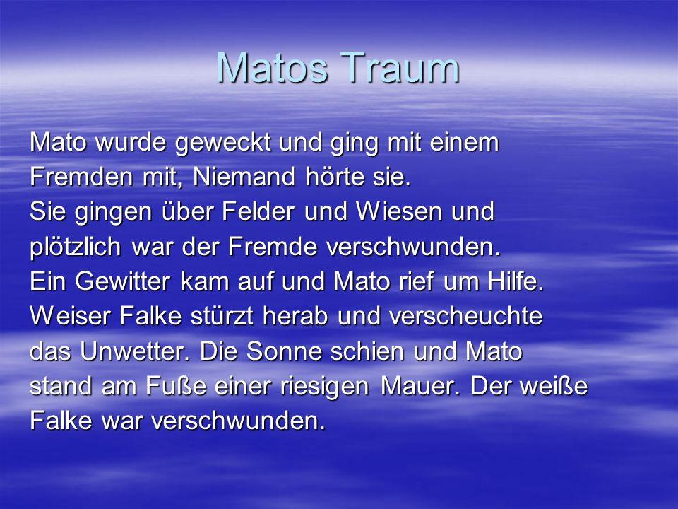Matos Traum Mato wurde geweckt und ging mit einem Fremden mit, Niemand hörte sie.
